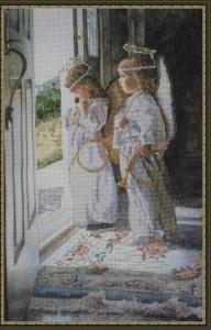 Ангелы и вышивка