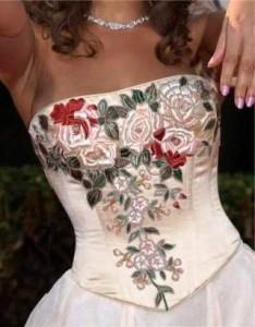 Узор из лент на платье