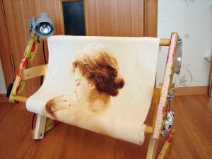 Диванный и настольный станки для вышивания