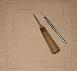 оформляем вышивку готовой рамкой