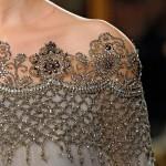 Украшение из бисера для платья