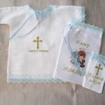Вышивка ангелов в крестильной одежде