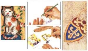 Подготовка канвы к вышиванию бисером