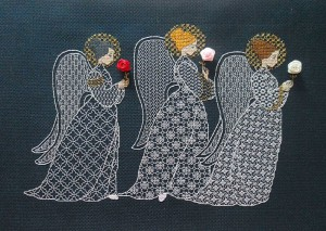 Вышивка ангелов