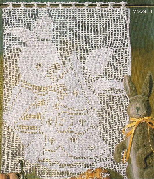 Пример филейного вязания